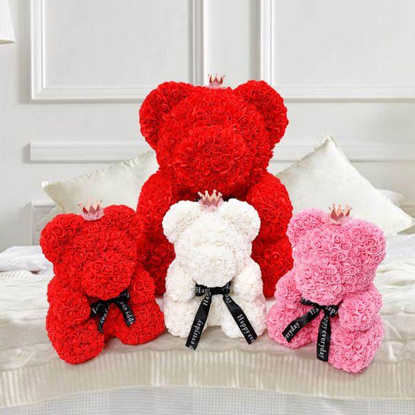 urso de pelúcia rosa valentines day gift idea flor espuma gigante