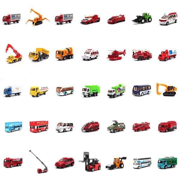 1: 64 литье под давлением сплава модель автомобиля детские игрушки коллекция украшения грузовик пожарная машина автобус строительство автомобиль игрушка модель