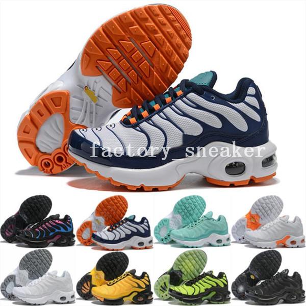 2019 Plus Tn Se Kids Diseñador de lujo zapatillas de deporte de las muchachas de los muchachos zapatillas de deporte de la juventud de los niños des Chaussures Tns Femme amarillo púrpura entrenadores Scarpe