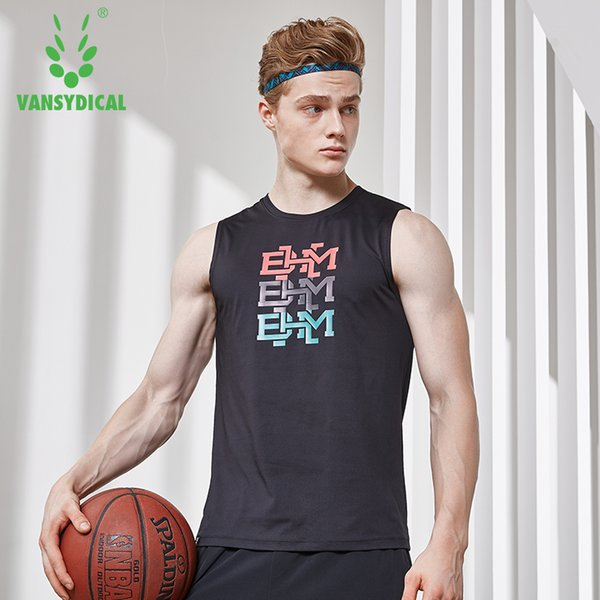 2018 Sports Running Vests Men's Printed Gym Quick Dry Sleeveless Fitness Workout Tops Jogging Basketball Jerseys Tank Top