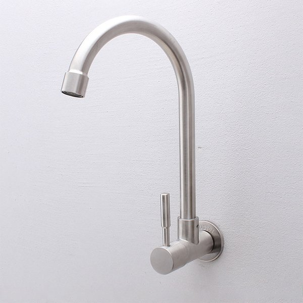 Stainless Steel Water Faucet Wall Mounting Water Tap for Basin Sink and Kitchen Faucet