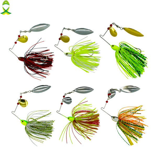 JSM 10 pcs/lot fishing spoon lures spinner bait for Bass Pike fishing wobbler metal baits spinnerbait isca artificial hard lure JSM 10