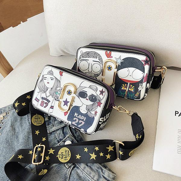 Bolso de calidad superior del bolso bolsos de diseño Monedero bolsos de las mujeres bolsos de Crossbody Bolsa Soho Disco hombro Graffiti Pequeño monedero del bolso cuadrado