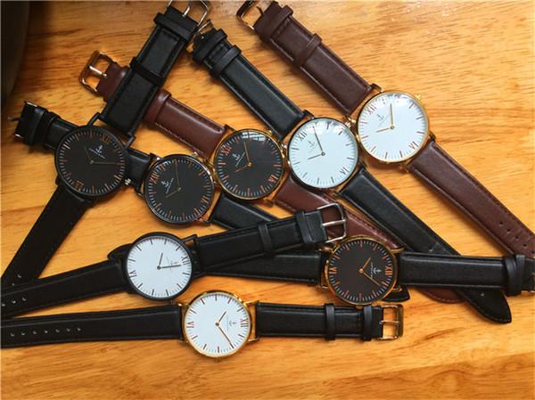 Luxury Brand women Quartz watch Leather Casua men sports watches Fashions mens watches Kapten&son Wrist Watches relojes mujer free shipping