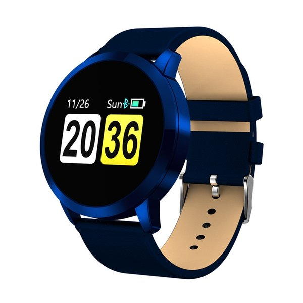 696 NEW Q8 Smart Watch OLED Color Screen Heart Rate Monitor Blood Pressure Oxygen IP67 Pedometer Fun Game Sport Fitness Watches
