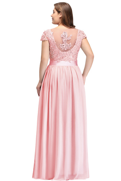 jewel backless sleeveless sweep train chiffon sheath column chiffon beads lace sequins long bridesmaid dress