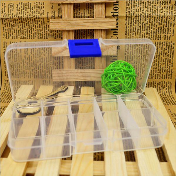10 Izgaralar Ayarlanabilir Küçük Bileşen için Şeffaf Plastik Saklama Kutusu Takı Alet Kutusu Boncuk Hapları Organizatör Nail Art İpucu Casesui0015