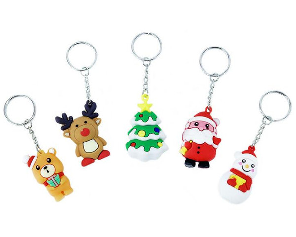 best selling PVC Christmas unicorn keychain Men Women designer Hallowmas key chains designer jewelry friends gifts top quality Free Shipping
