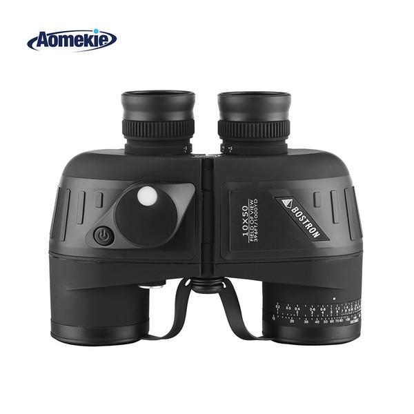 10x50 binoculars with rangefinder compass bak4 prism for hunting boating marine birdwatching waterproof telescope thumbnail