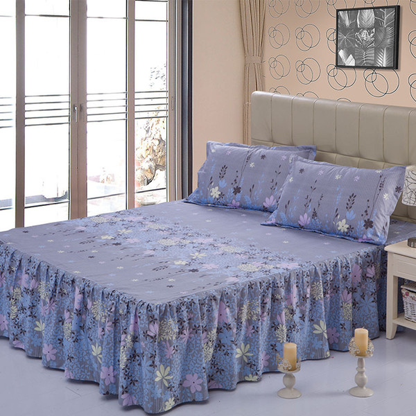 Beauty Floral Bed Skirt for Kids Adults Single Double Bed 100% Polyester Sanding Bed Skirts (No Pillowcase)