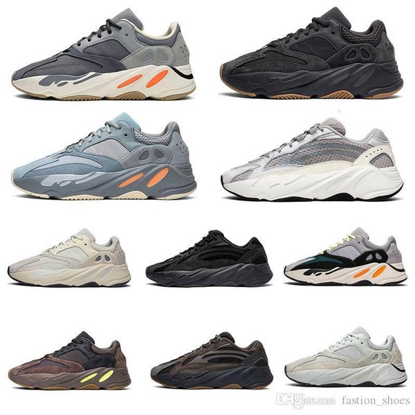 2019 Magnet 700 Vanta Utility Black Geode Inertia 3M Reflective Static Kanye West Wave Runner Mauve Men Womens sports sneaker 36-46