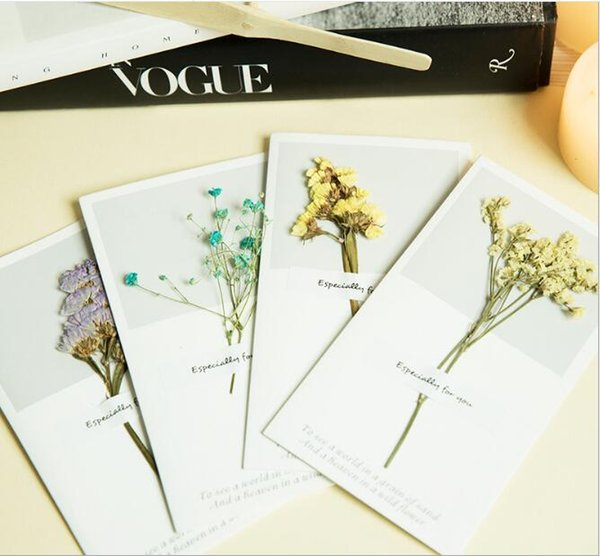 Customizable Folding Creative Dried Flower Gift Card New Year Wishing Card Christmas Greeting Card for festivals and any celebrations