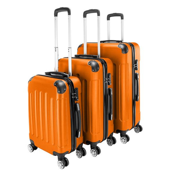 USA Ship Valises 2019 Nouvelle valise Boarding Box 20 24 28 pouces coffre de la mode ABS PC Carry-on valise à roulettes Valise à roulettes