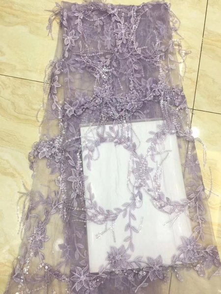 Cheap bridal lace for the African lace high quality 3D flowers embroidered Nigerian lace fabrics for bridal party dress