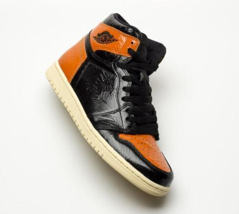 Newest 1 High OG Shattered Backboard Black Orange Black Toe Men Basketball Shoes 1s Fashion Sneakers Athletic Shoes Trainers