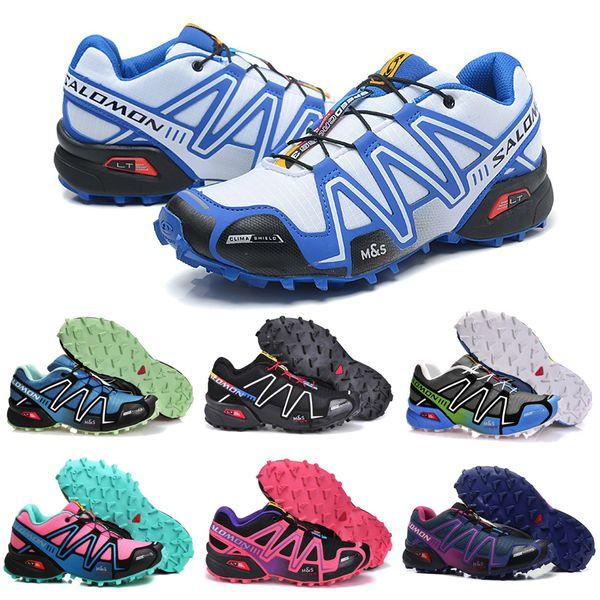 Salomon Speedcross 3 CS Trail Running Shoes Black Blue Pink