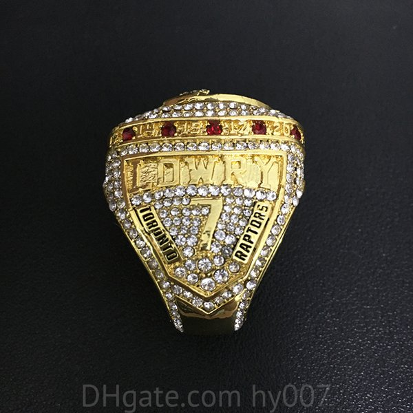 best selling 2019 Authority Raptors Championship ring Jewelry Men Collect Souvenirs MVP Leonard Lowry Finger Rings Fan gift