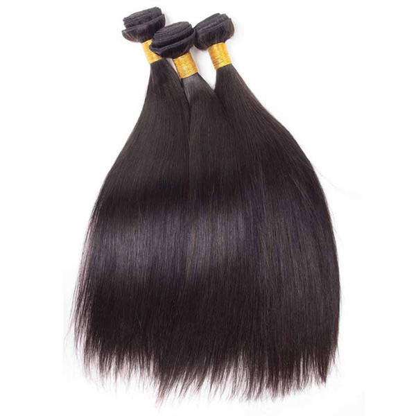 Unprocessed Brazilian Human Hair 8A Peruvian Indian Malaysian Virgin Human Hair Straight Hair Extensions 3pcs/lot For Black Women DHL