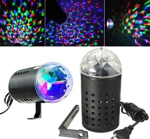 3W LED RGB Stage Light Auto Rotating Crystal Laser Disco Lighting Lamp DJ LED Bulb Party Dancing Lamp Festive Party Supplies K198
