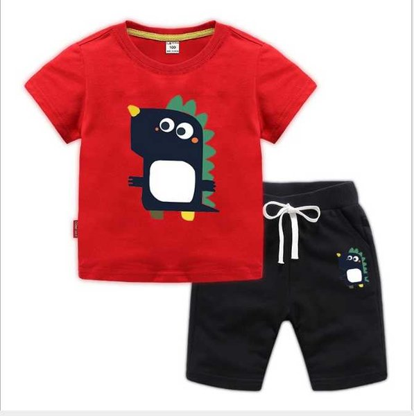 2019 New classic Luxury Logo Designer Baby T shirt+ Pants 1-8 years olde Suit Kids fashion Children's 2pcs Cotton Clothing Sets-