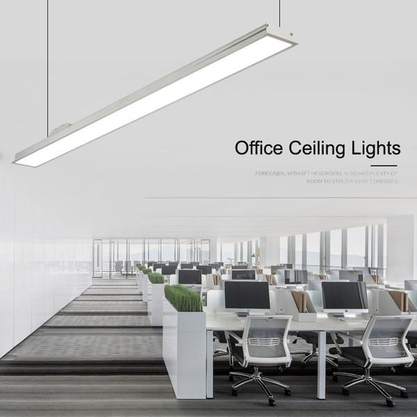 Illuminazione Per Ufficio.Acquista Novita Lampade A Sospensione Sottili Da Ufficio Lampada Da Soffitto Lunga In Alluminio Sottile Sala Riunioni Conferenze Commerciali A Led