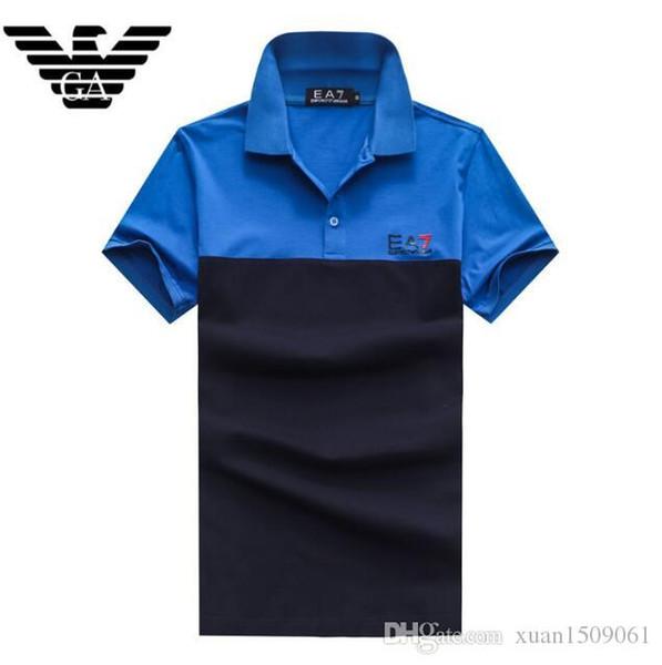 Kurzärmliges, lässiges Herren-T-Shirt aus Baumwolle, Revers-T-Shirt, POLO-Shirt, britisches, halbärmliges Herren-T-Shirt