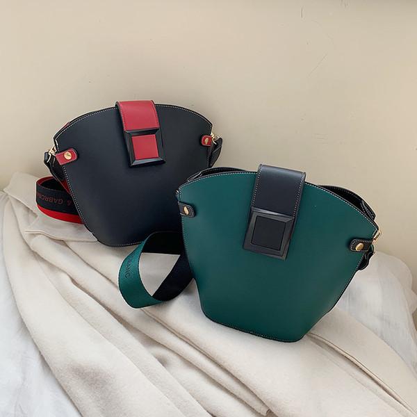 Bags for women Brand Originality Design Bag women 2019 new Joker retro single back Messenger bag fashion broadband bucket