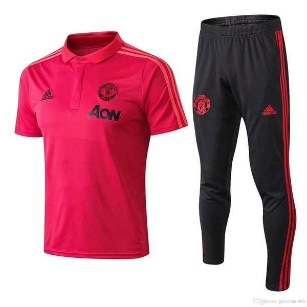 wholesale best new 18 19 Man united Polo shirts 2019 Man united red tracksuits MAHREZ tracksuits STERLING SANE short sleeve training suits