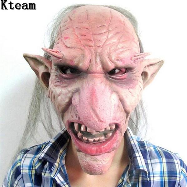 Heißer Verkauf Männer Latex Maske Goblins Große Nase Horror Maske Gruselige Kostüm Party Cosplay Requisiten Scary für Halloween Terror Zombie