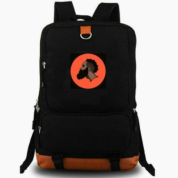 James Harden daypack Full beard school bag Star photo backpack Basketball laptop schoolbag Outdoor rucksack Sport day pack