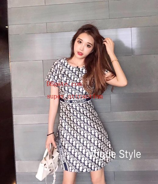 Kadın Elbiseler baskı yaz Elbiseler marka kadın giyim Moda Kısa Kollu etek casual en kaliteli Plaj Elbise Maxi Elbise