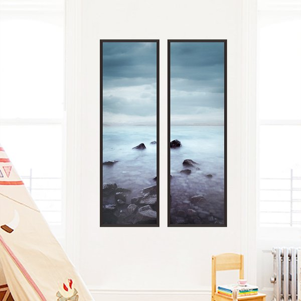 Retro Wall Decor Landscape Painting Wall Stickers for Kids Room Bedroom Home Decor Scenery Poster Mural Wallpaper Wall Decals