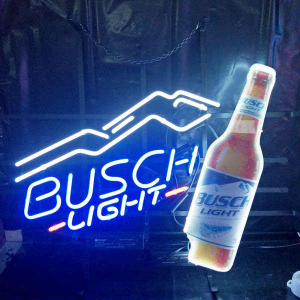 2019 BUSCH LIGHT Neon Sign Lamp Design Beer Advertising Home Decoration Art  Gift Display Real Glass Neon Light Metal Frame 17'' 24'' 30''40'' From