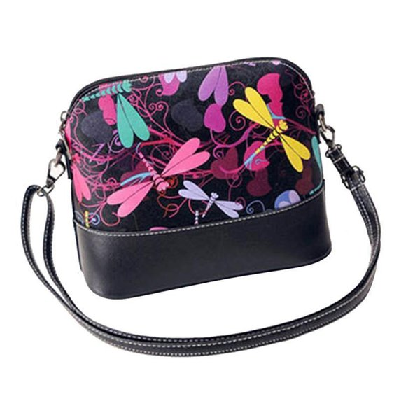 Nice Women Messenger Bags Dragonfly Pattern Retro Graffiti Women Patchwork Shoulder Bags