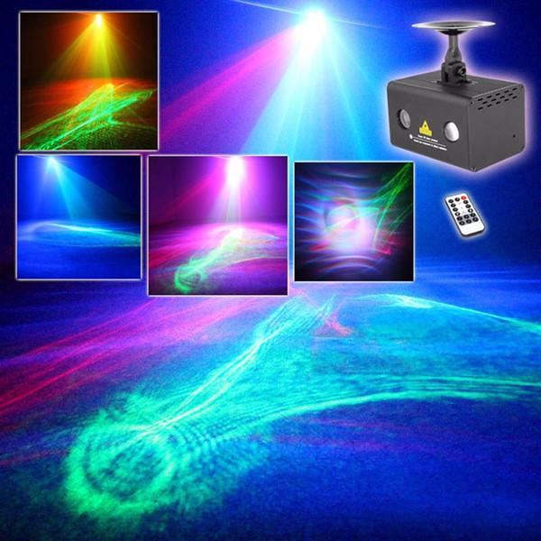 Remote RG Aurora Laser Light Projector Stage Lighting Effect RGB LED Water Wave Party Dance Disco DJ Holiday Xmas Lights 110V-240V US EU UK
