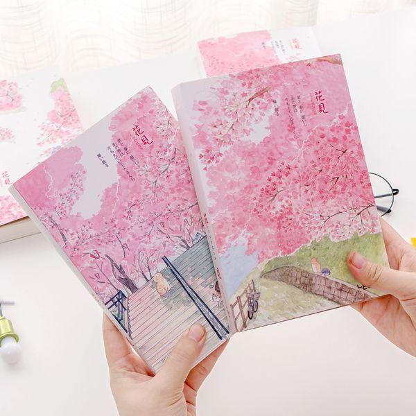 """sakura Cat Sketchbook"" Big Size Drawing Notepad Kawaii Cute Diary Journal Notebook Stationery Gift"