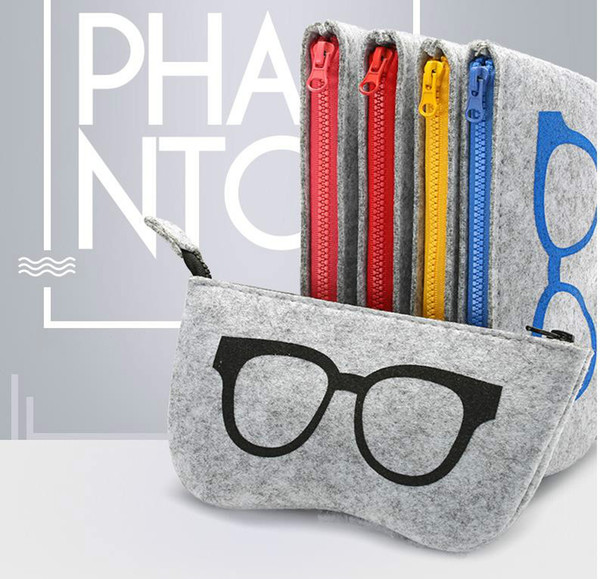 best selling New Top-grade Felt Cloth Sunglasses Boxes High Quality Luxury Fabric Glasses Case Eyeglasses Accessories Sunglasses bag