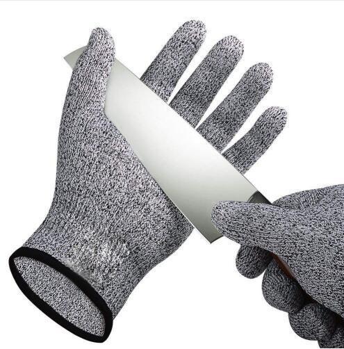 1 par de guantes anticortados Prueba de corte Resistente a las puñaladas Alambre de acero inoxidable Cocina de carnicero Resistente a los cortes Guantes de jardín de seguridad