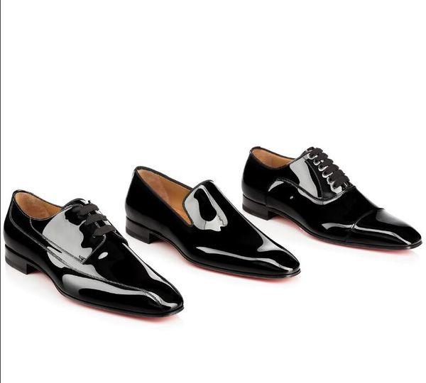 Gentleman Party Bussiness Dress Slip On Loafers Shoes Одуванчик Кроссовки с Красным Дном Оксфорд Роскошные мужские Досуг Мода Плоские