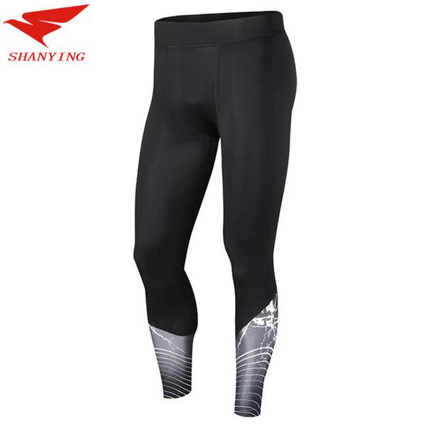 9d870da74e7bb 2019 NEW Men 3/4 Trousers Compression Pants Men Sports Running Tights Men  Bodybuilding Jogging