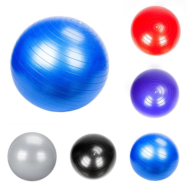 75cm 1200g Gym Household Explosion-proof Thicken Yoga Ball Smooth Surface Type Fitness Supplies 5 Colors U Pick