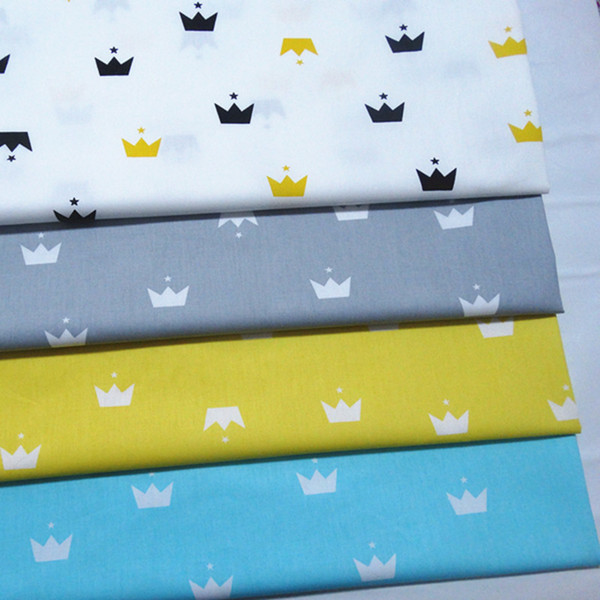 Imperial crown print 100%cotton fabric for baby cloth 10yards/lot tomo1822