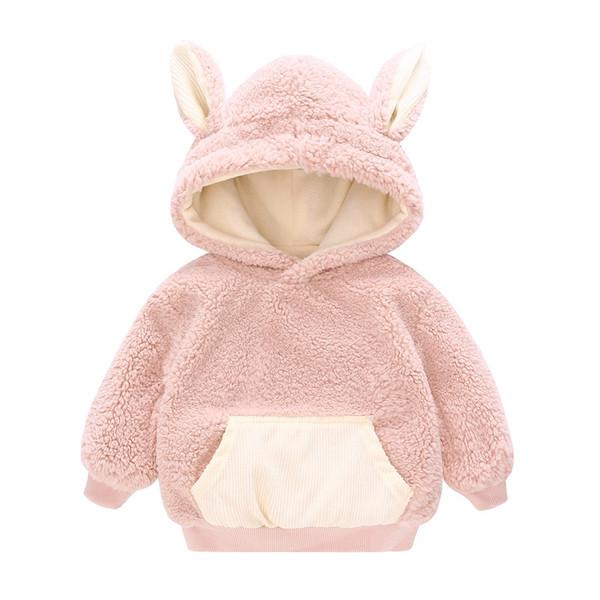 Vlinder Baby Girl Clothes Baby Hoodies Sweatshirt winter Kid clothes Winter fleece hoodie for children 12M~4T