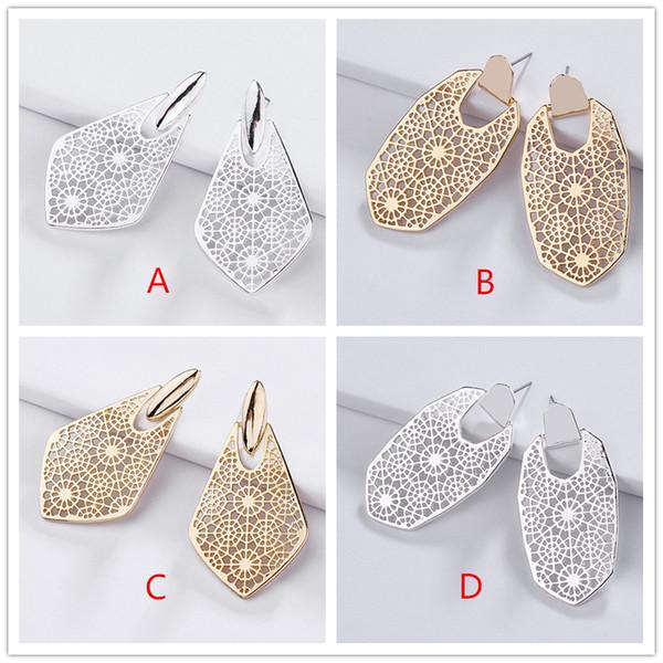 Kendra Style Sophee Alloy Frame ahueca hacia fuera el agua Pendientes Fashion KS Dangle Earrings for Women