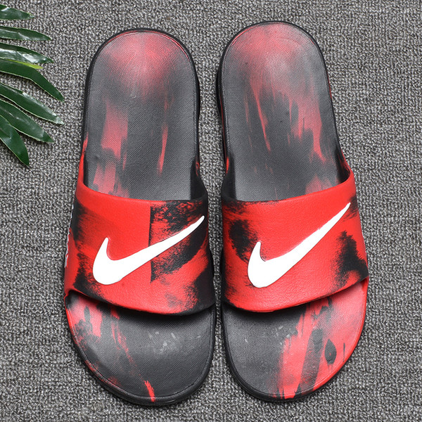 Wholesale Summer men Breathable Comfortable Slippers with air cushion Brand Designer Slides soft Sandals S1ZE 40-45