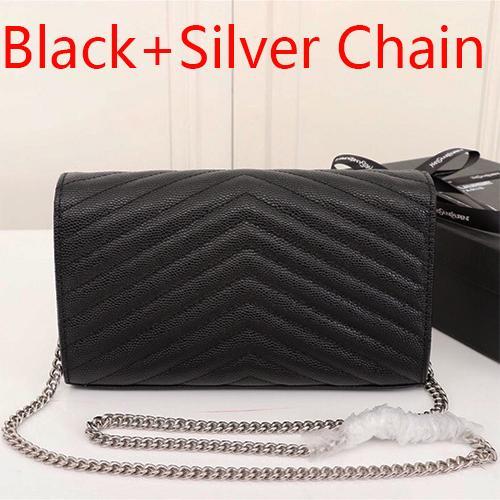 Черная + серебряная цепочка(поставляется с Y_S_L)
