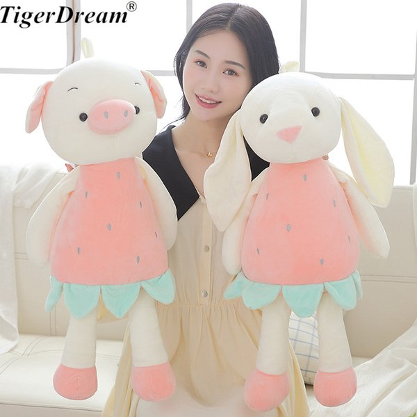 Creative One Piece Fruit Pig Rabbit Plush Toy Cute Bunny Doll Stuffed Rabbit Toys Animal Sleeping Pillow Gift For Kids