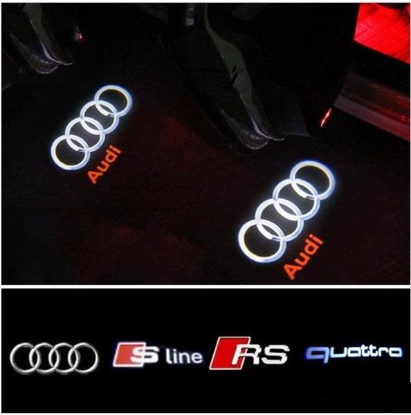 DHL free ship For AUDI Car Door LED CIRCLE Ghost Shadow Light Audi Logo Projector Courtesy Lights Auto Backlight Car Styling Welcome Lamp