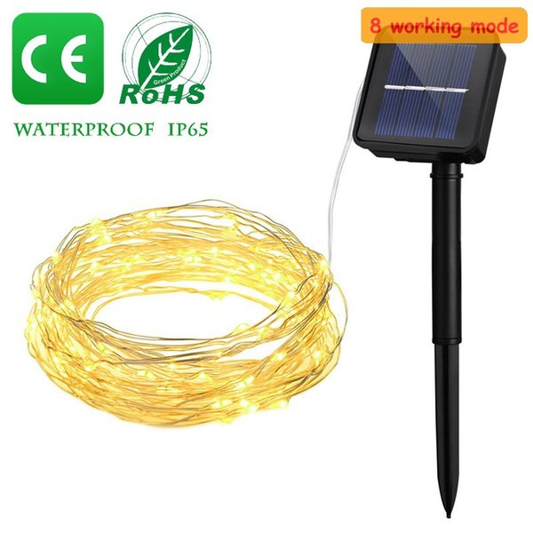 Location de sortie d'éclairage solaire lumières chaîne fil de cuivre Led boîtier de batterie en cuivre extérieur étanche lampe 2/5/10 mètres
