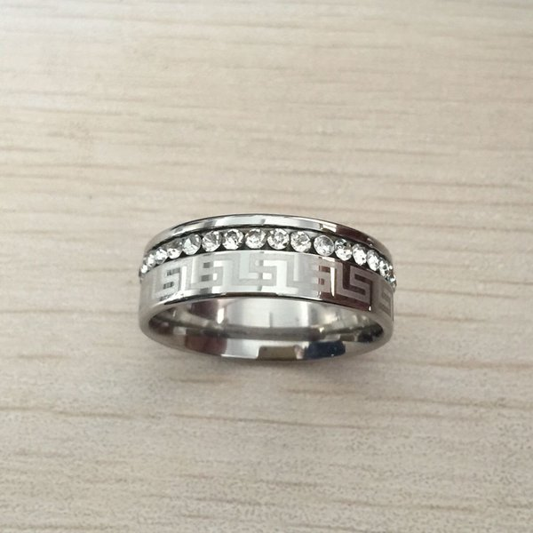Heißer verkauf hohe qualität berühmte marke design silber diamant schmuck titan stahl gold gefüllt ringe platz schwarz ohrstecker mädchen frauen